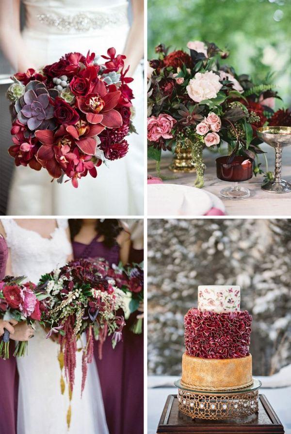 Марсала цвет на свадьбе