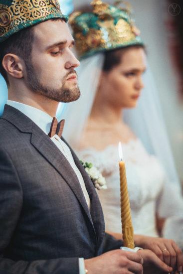 фотосессия церемонии венчания в церкви